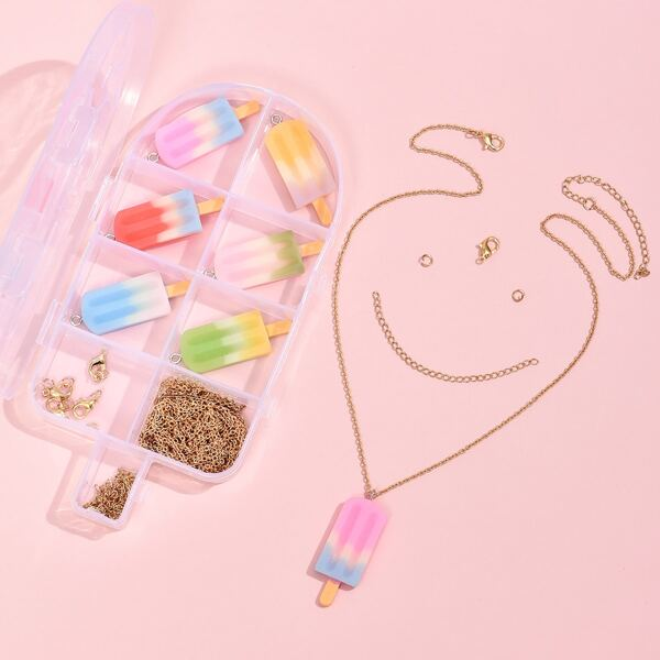 1box Popsicle DIY Jewelry Accessory Set, Multicolor