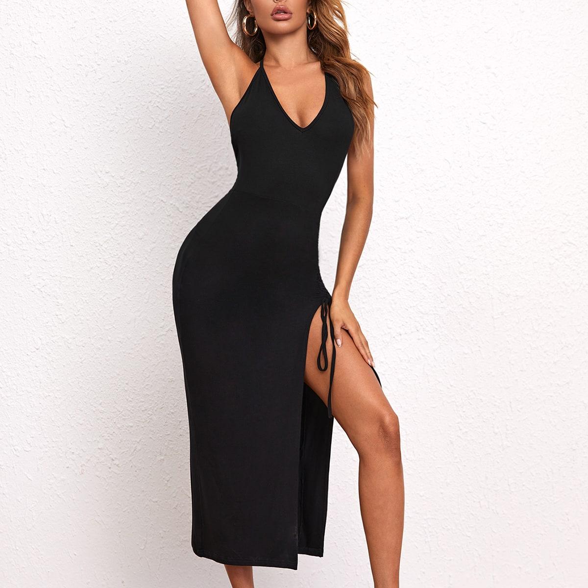Платье с вырезом на спине на кулиске SheIn swdress07210412882