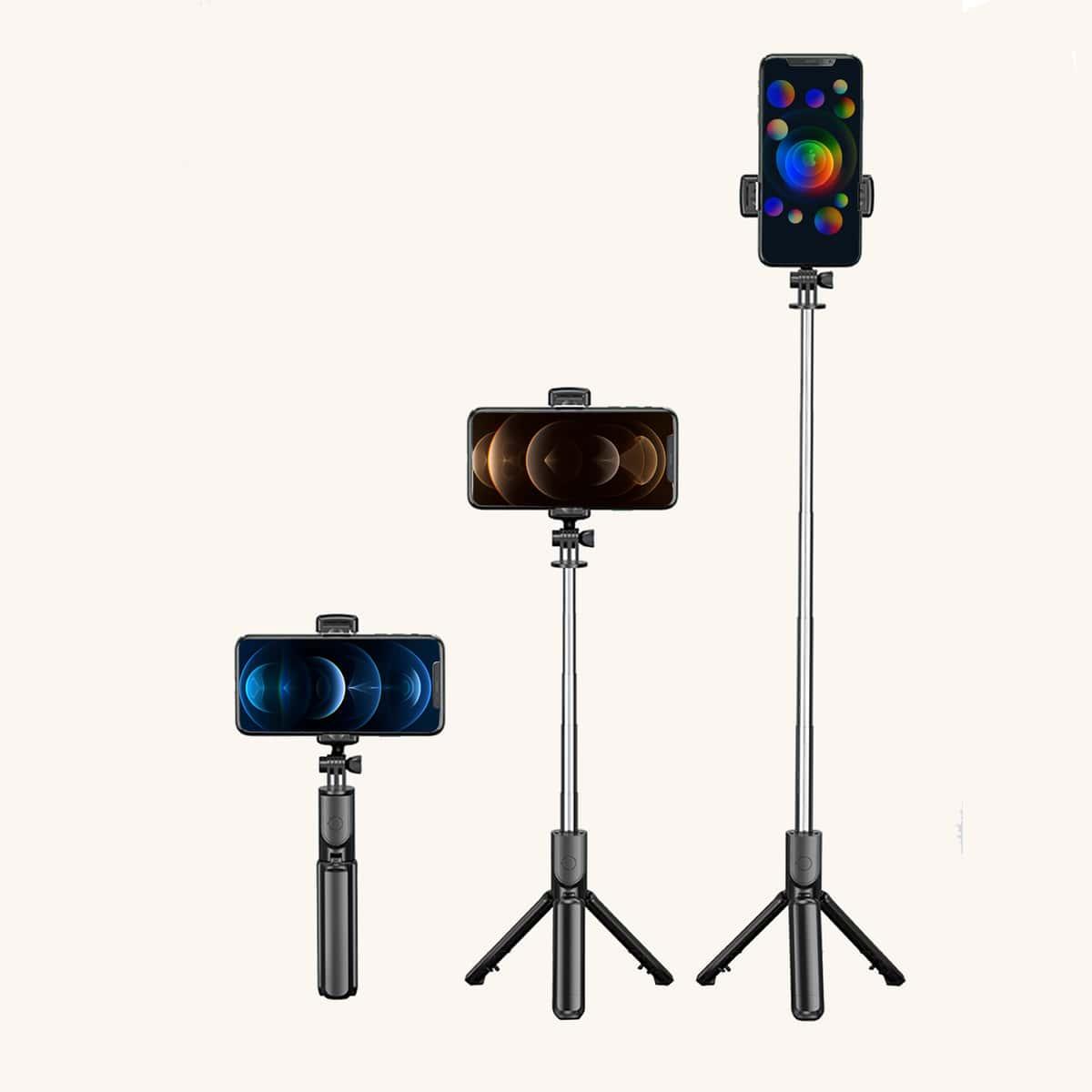 1 pièce Trépied à bâton de selfie de bluetooth télécommande