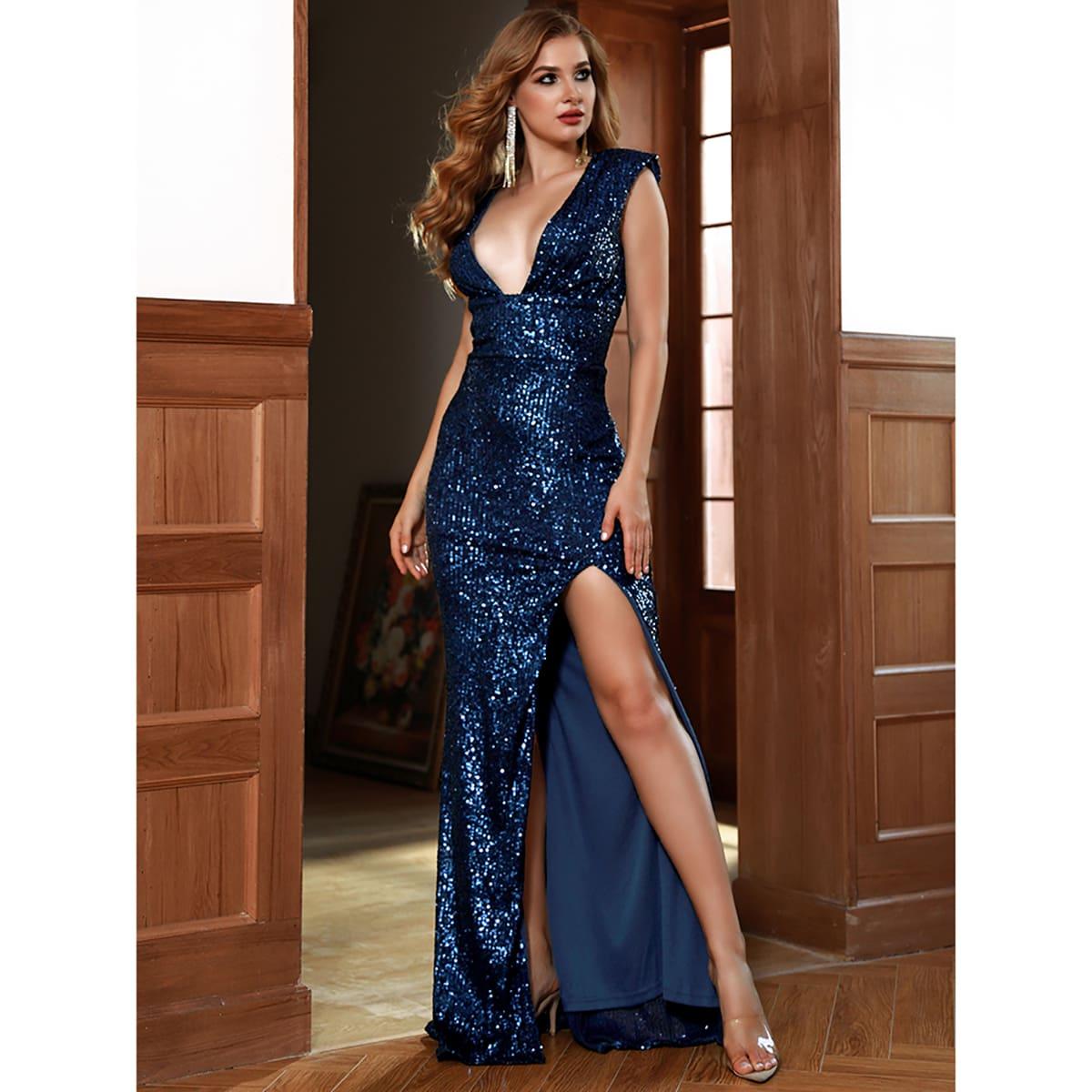 Платье с вырезом на спине SheIn swdress31210429712