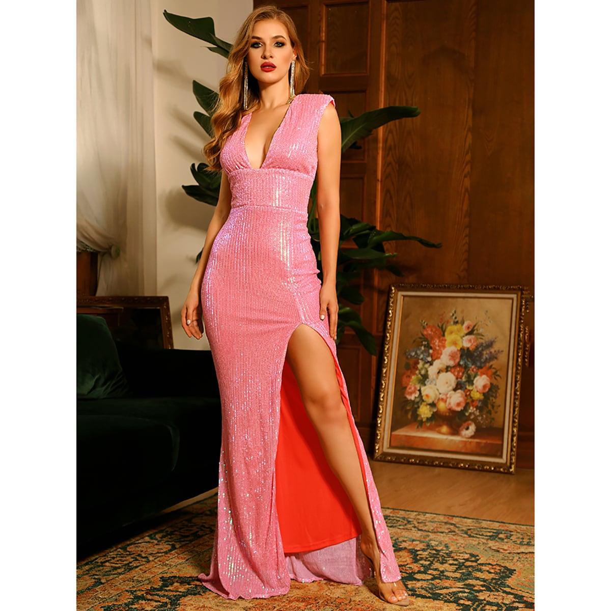 Платье с вырезом на спине SheIn swdress31210429968