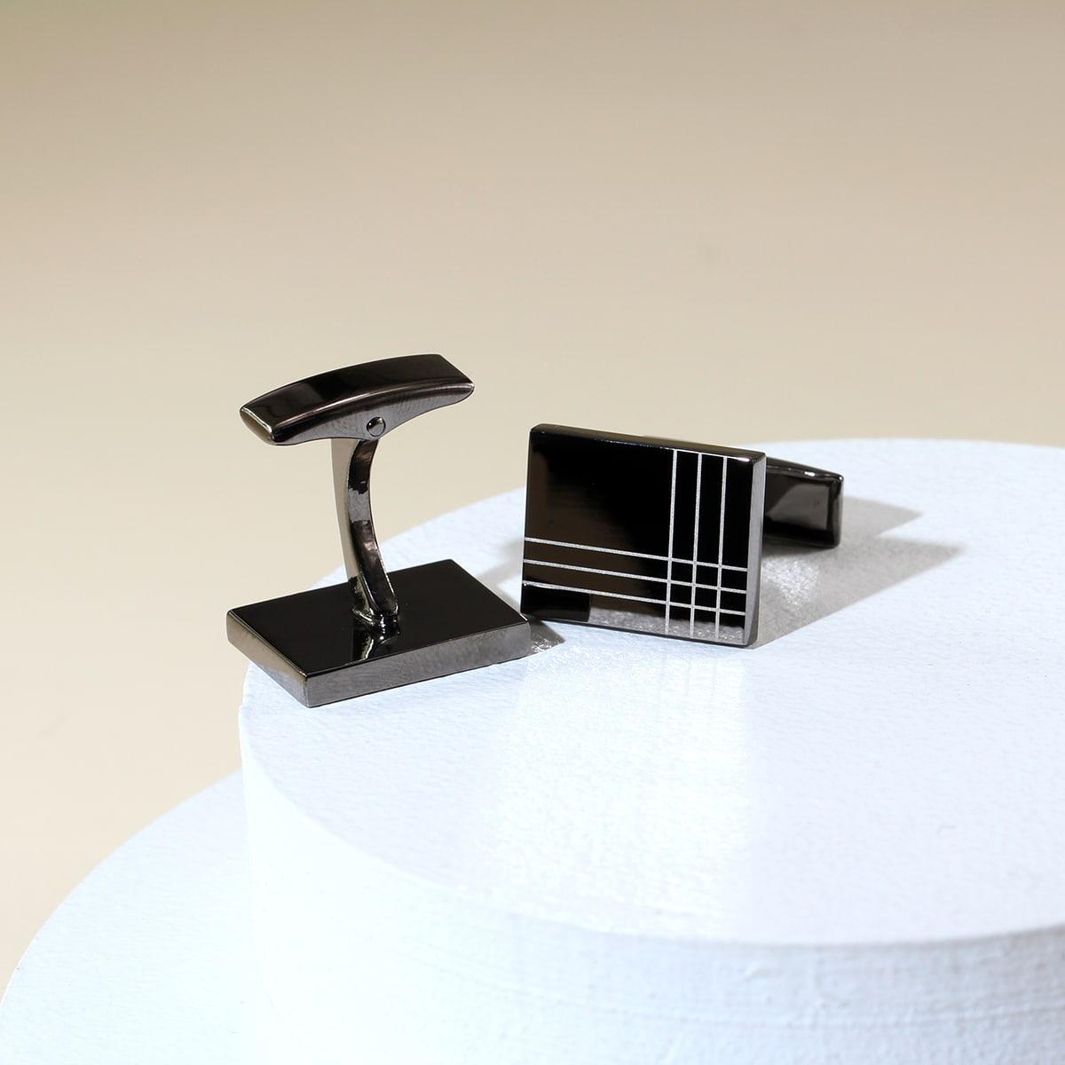Геометрический принт Запонки и зажимы для галстука