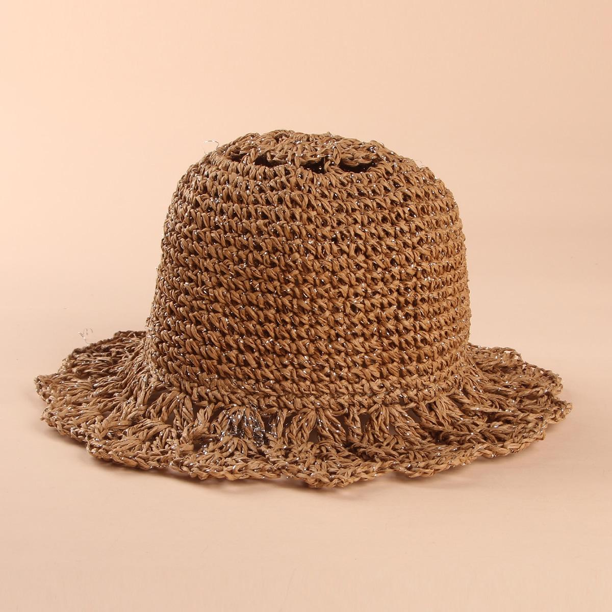 Плетеная соломенная шапка для девочек