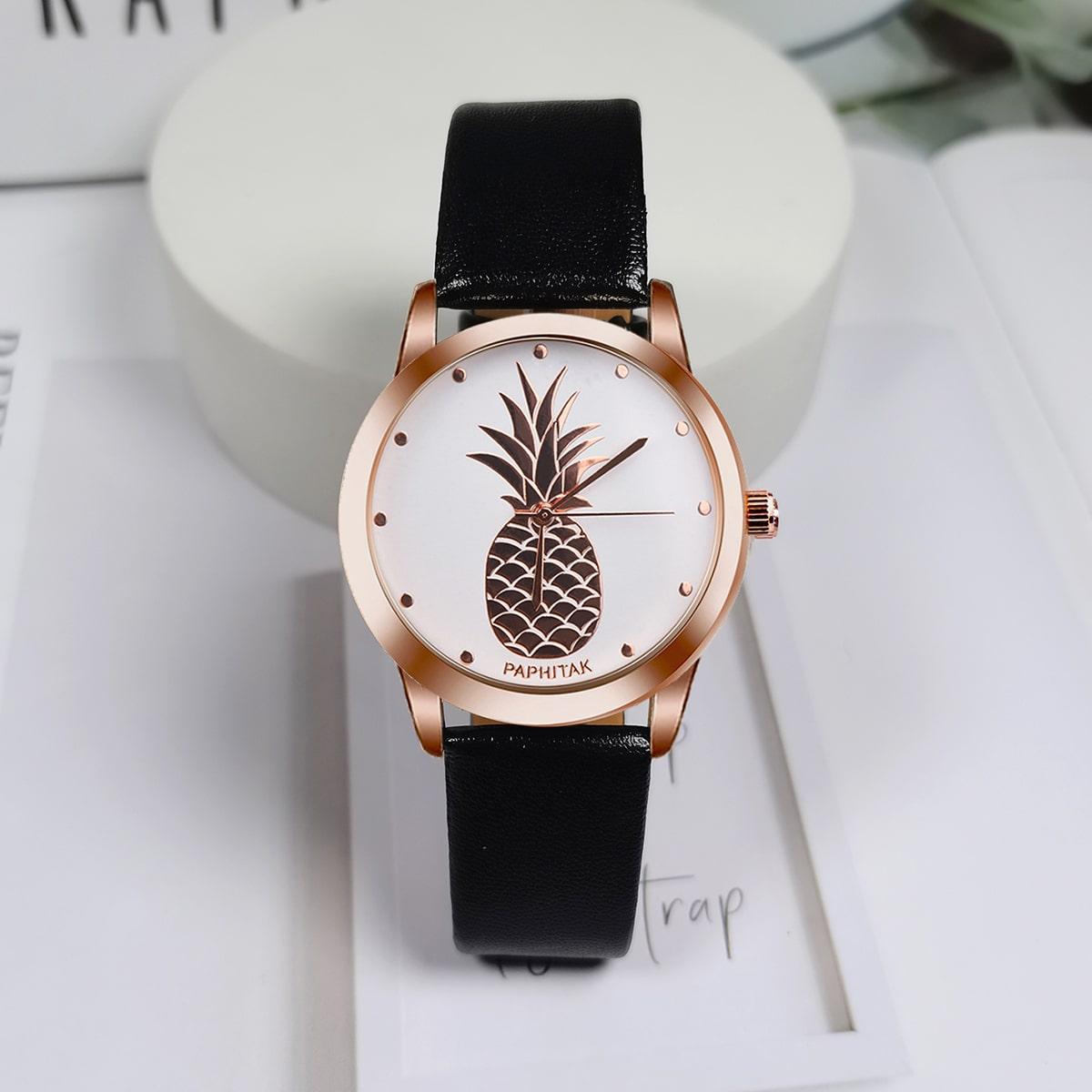 Kids Pineapple Dial Quartz Watch