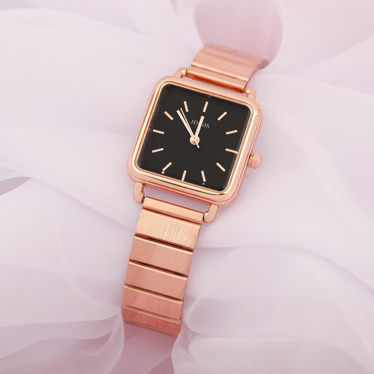 Square Pointer Quartz Watch