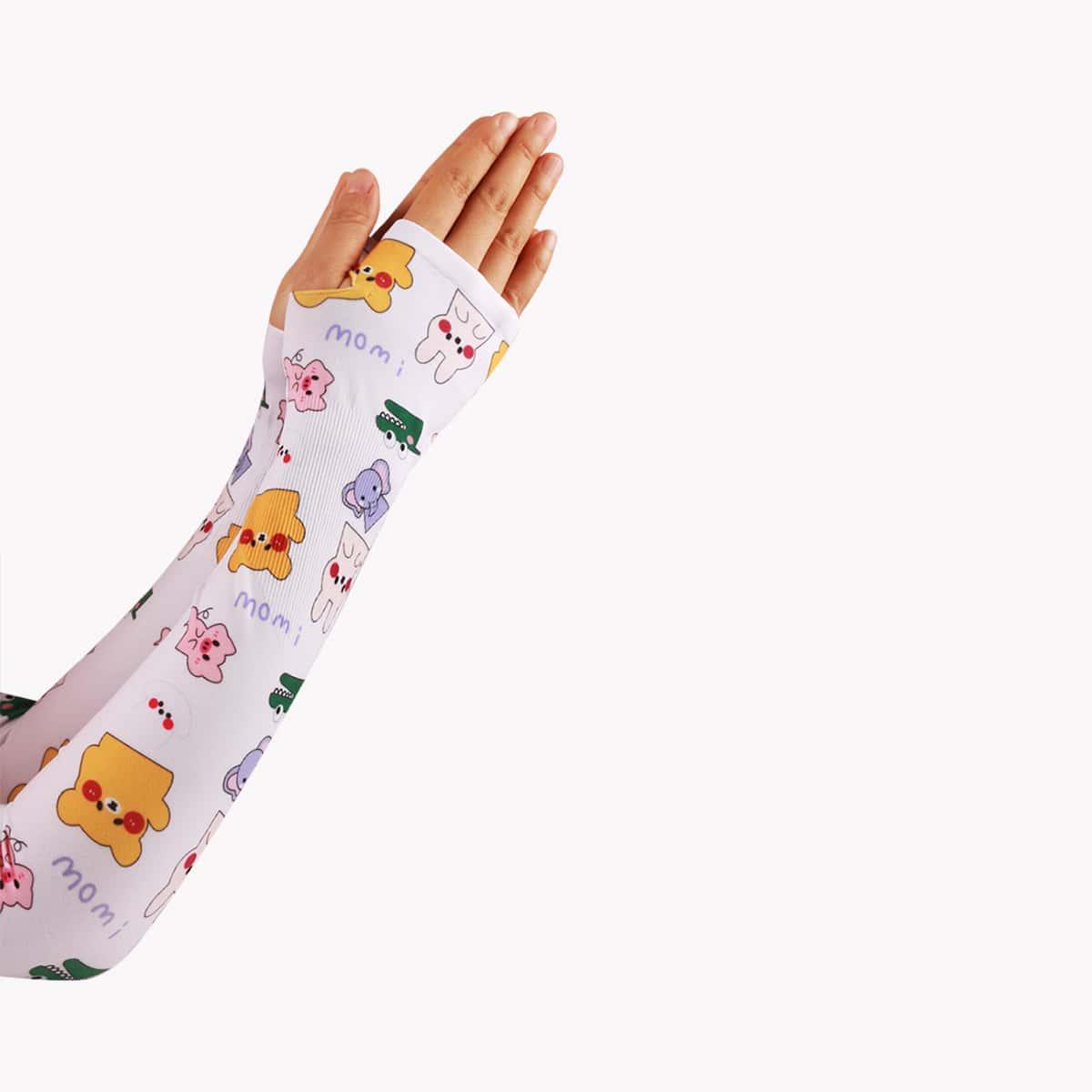 Антимоскитные длинные перчатки с мультяшным рисунком