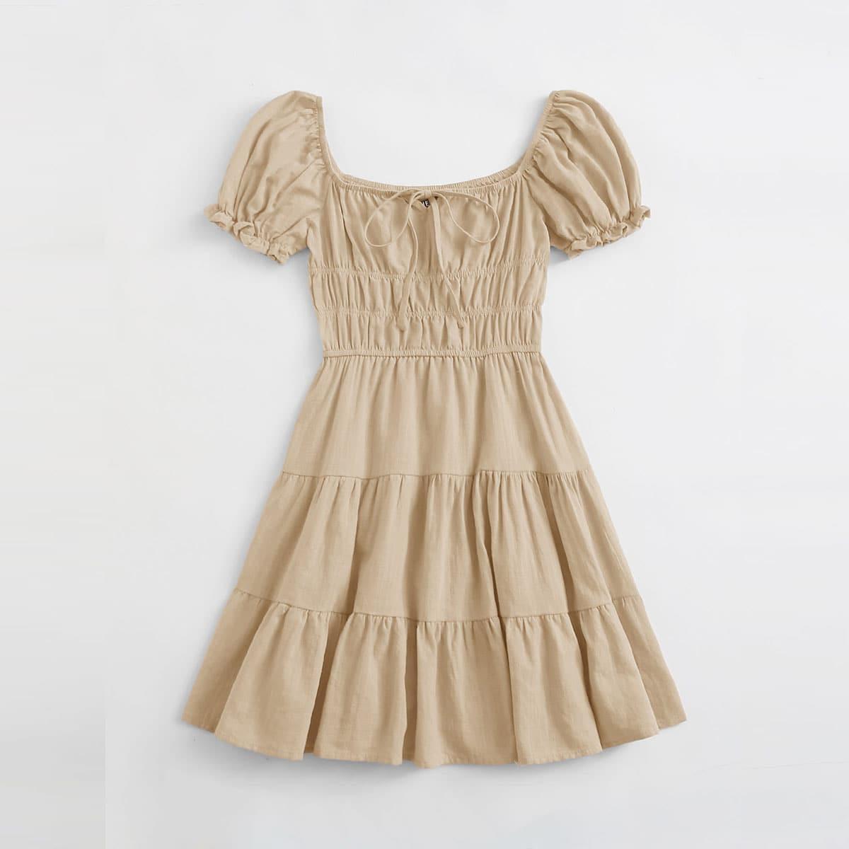 Платье с вырезом-бантом SheIn swdress07210423302