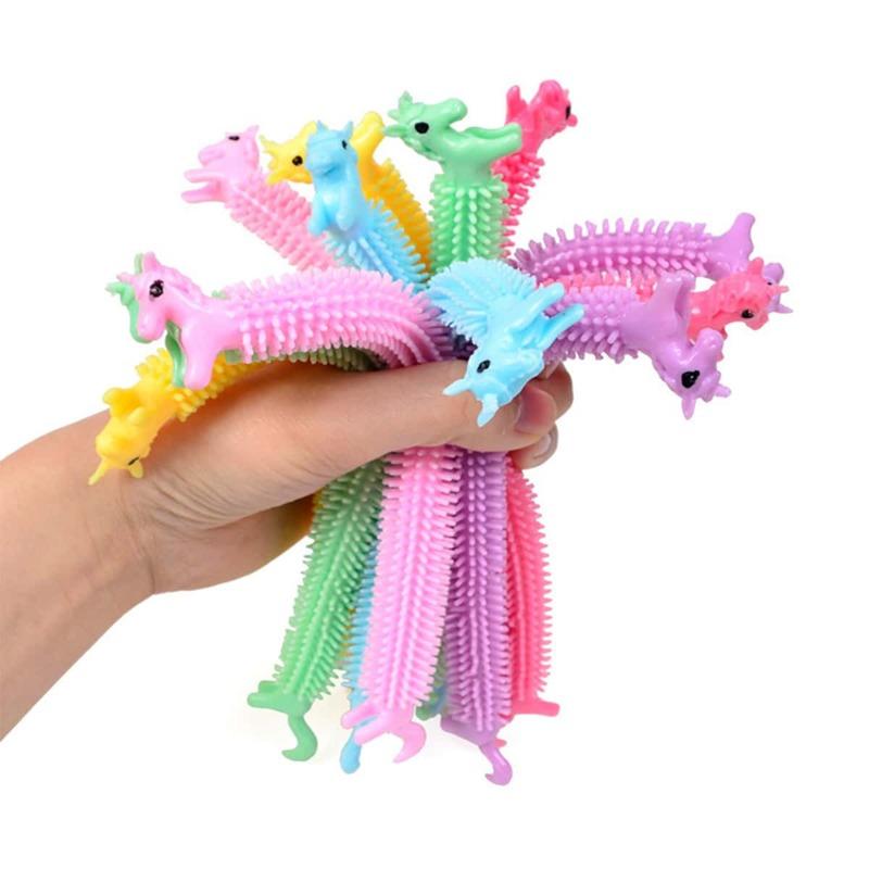 1pc Random Unicorn Stress Relief Tube Toy, Multicolor