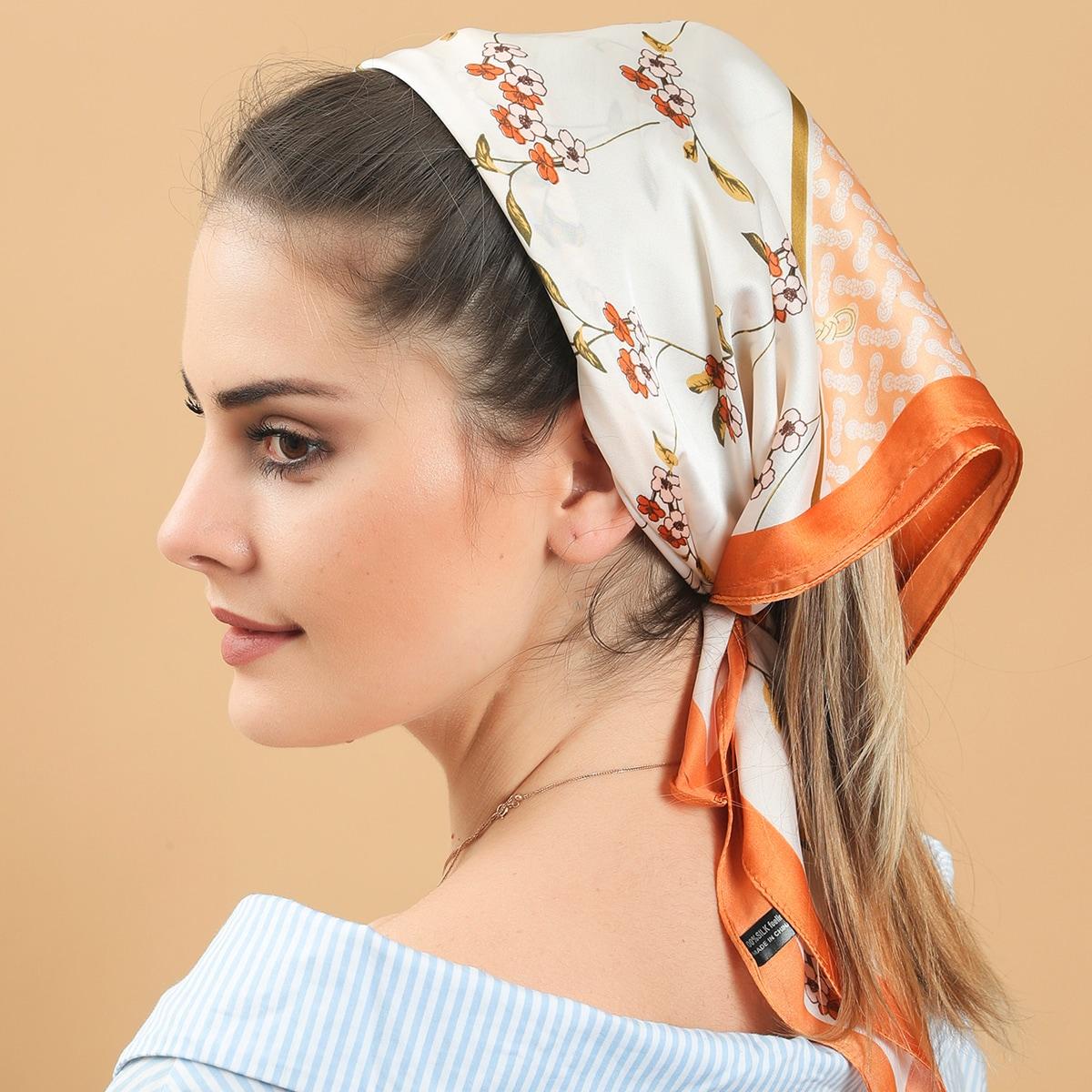 Flower Print Kerchief
