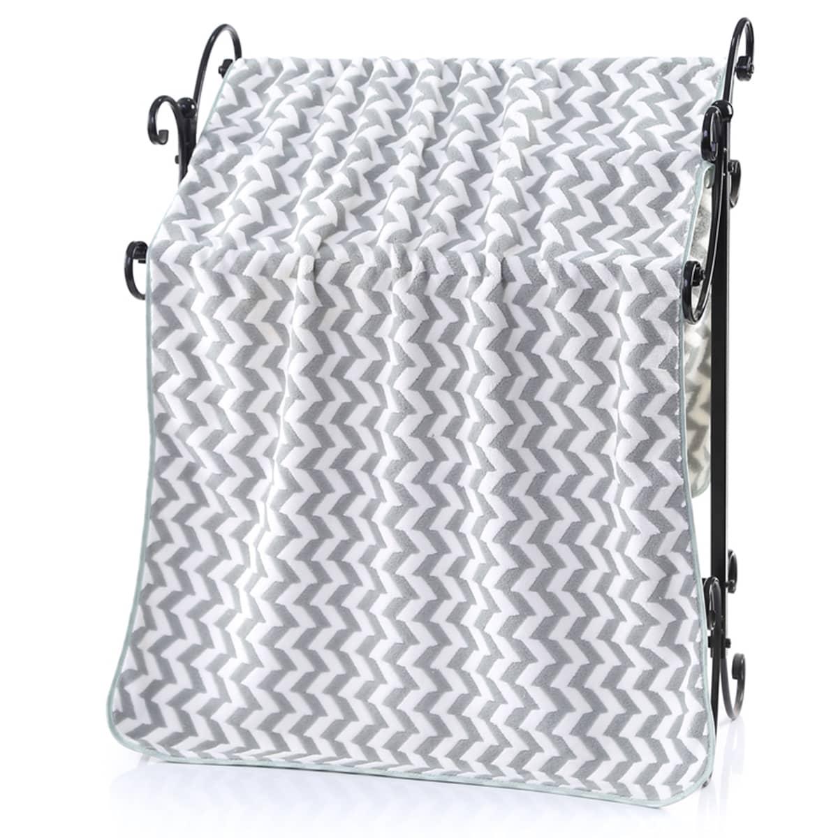 Банное полотенце с шевронным узором