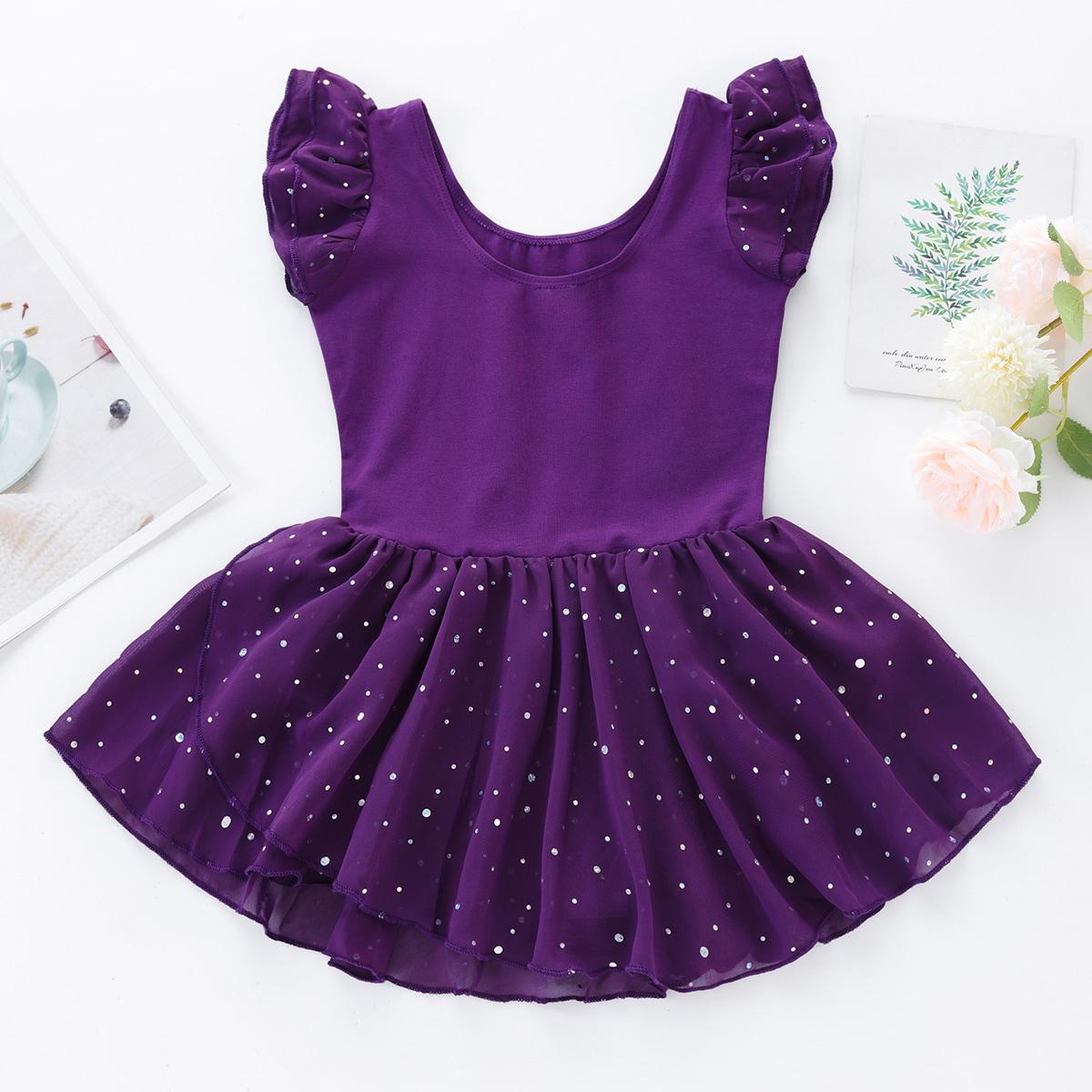 для девочек контрастные блестки Составной комплект Боди Платье от SHEIN