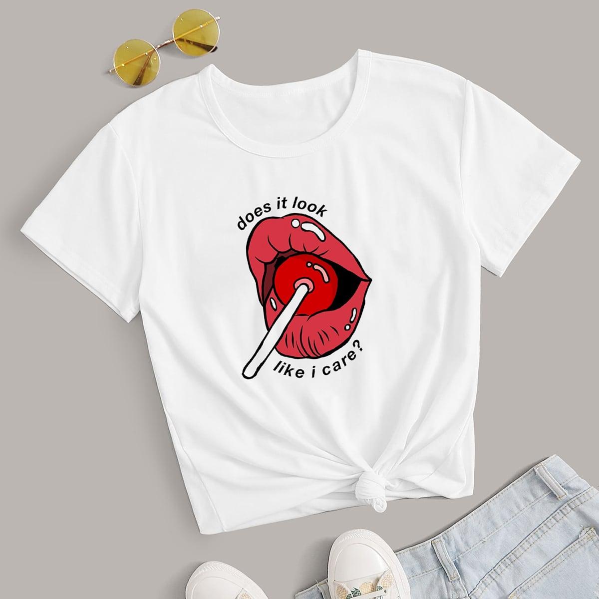 Casual Figuren T-shirt
