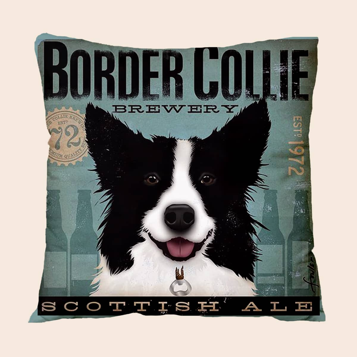 Dog Print Cushion Cover Without Filler