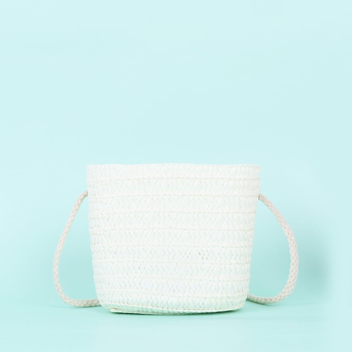 Минималистская соломенная сумка для девочек SheIn skbag18210507182
