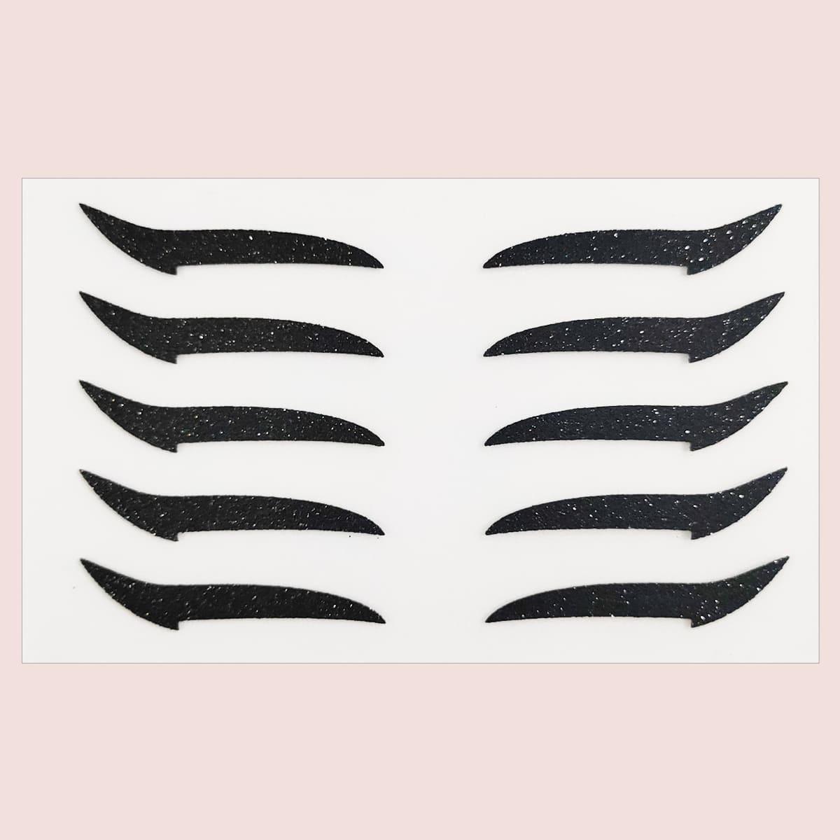1sheet Glitter Eyeliner Sticker