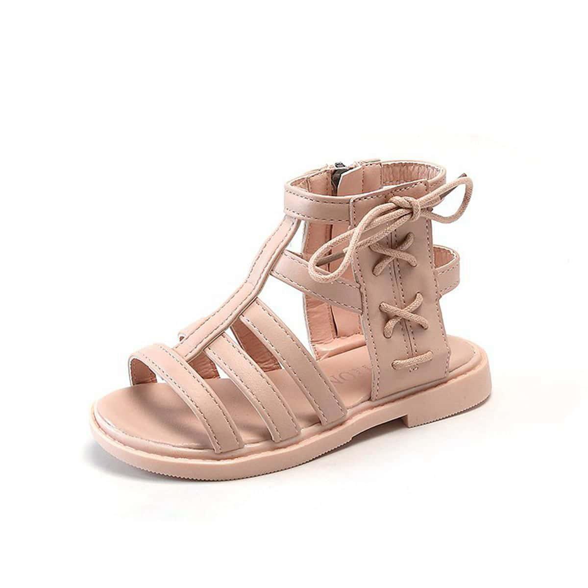 Гладиаторы на шнурках Одноцветный Детские сандалии
