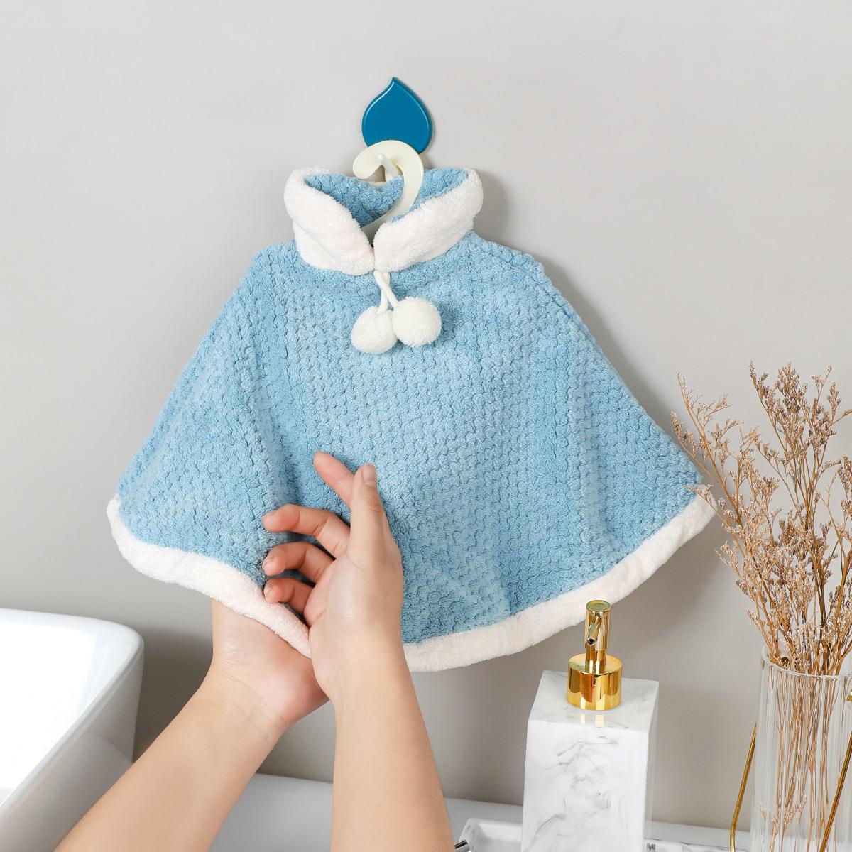 1pc Cloak Shaped Hand Towel