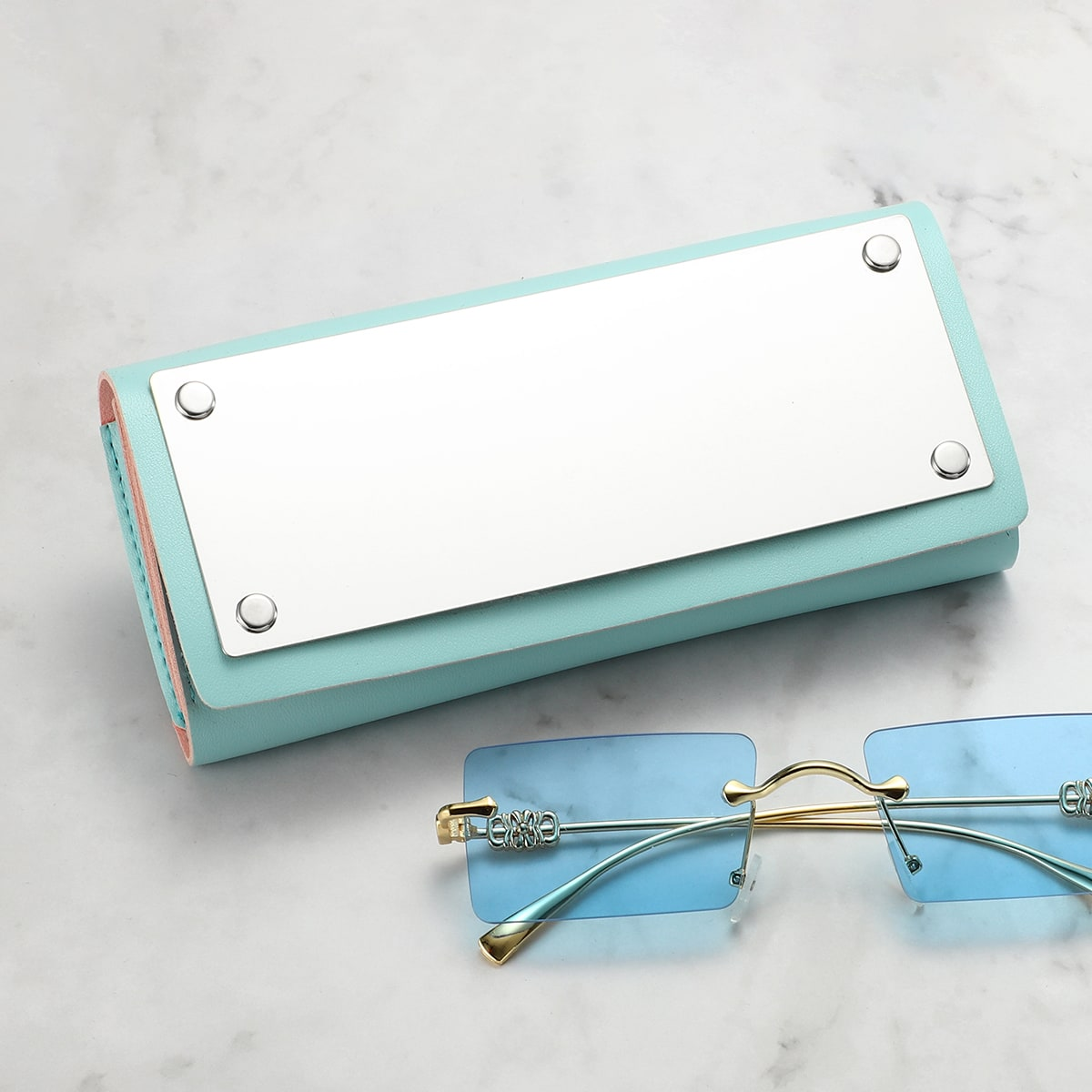 Glasses Case With Mirror