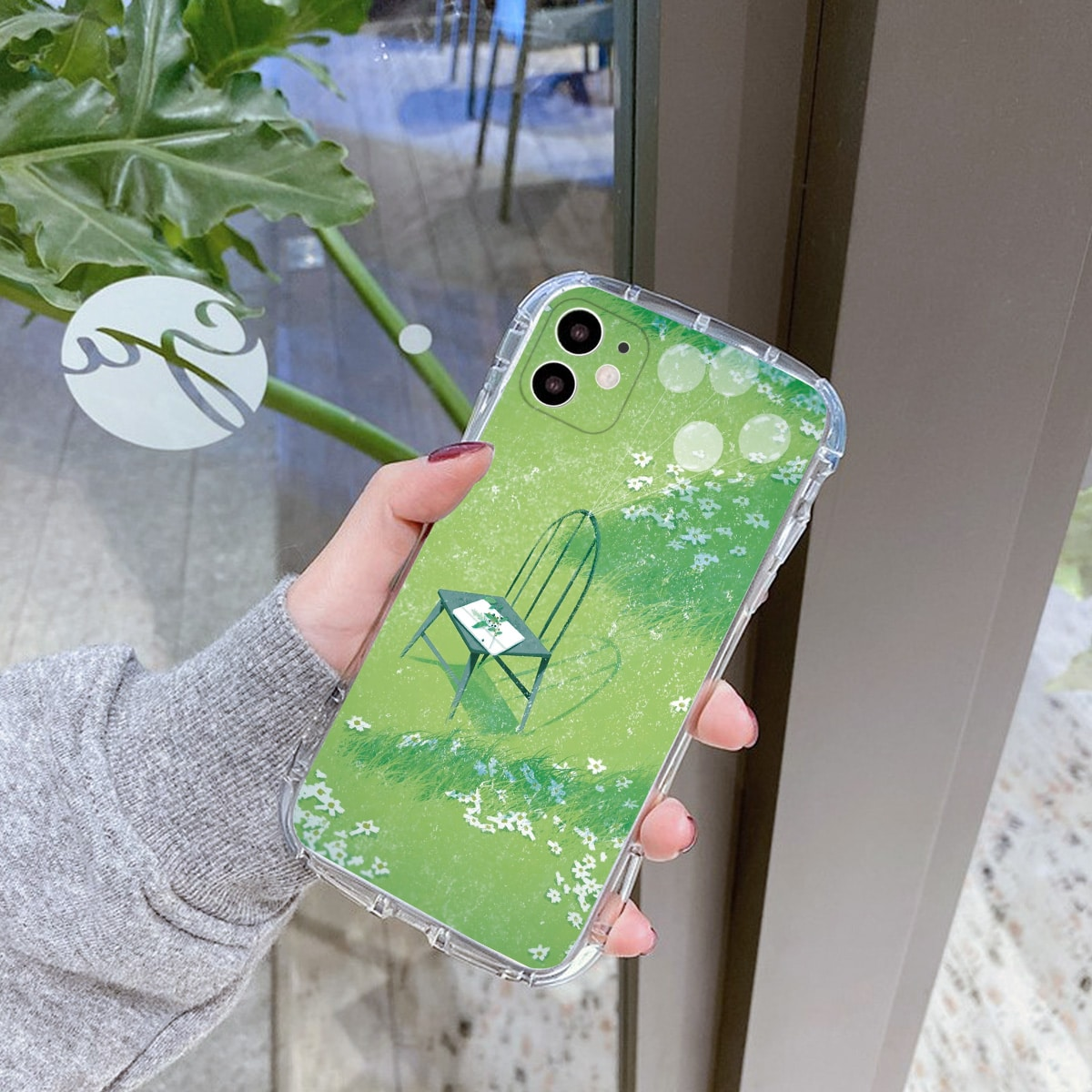 Чехол для телефона с узором травы