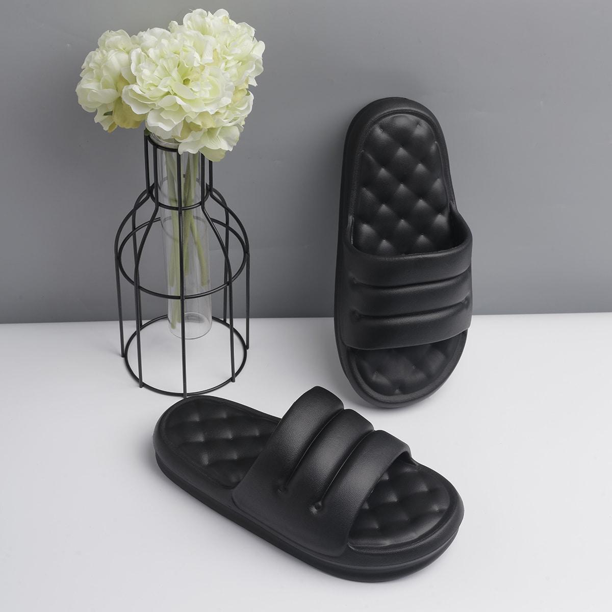 Minimalist Textured Shower Slides