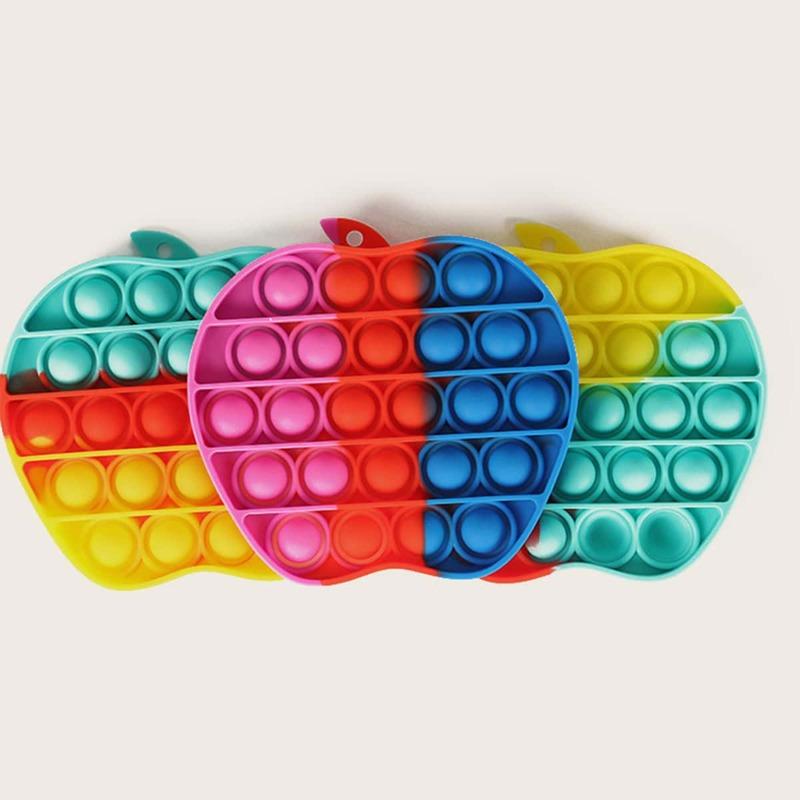 1pc Random Apple Stress Relief Bubble Toy, Multicolor