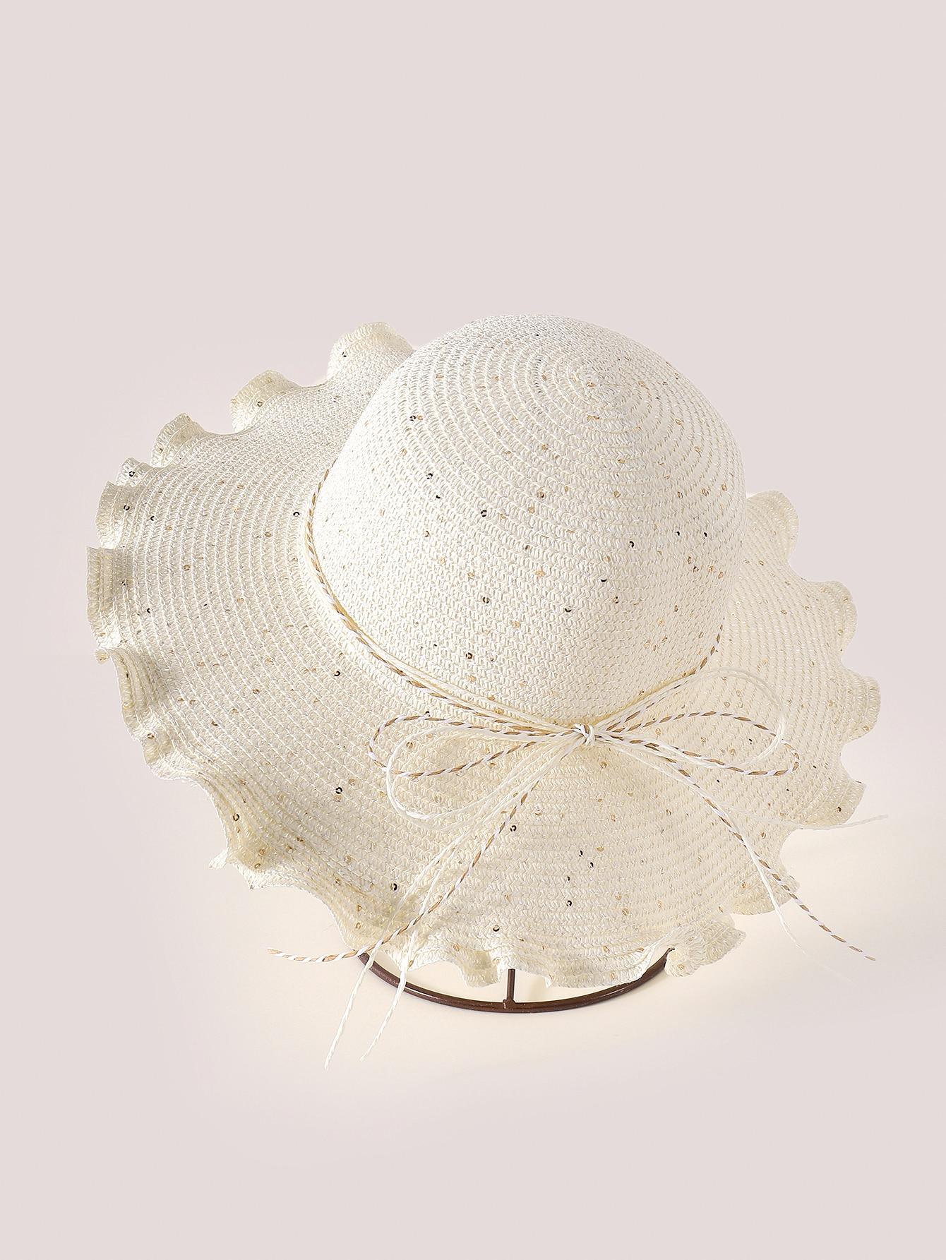 solid straw hat