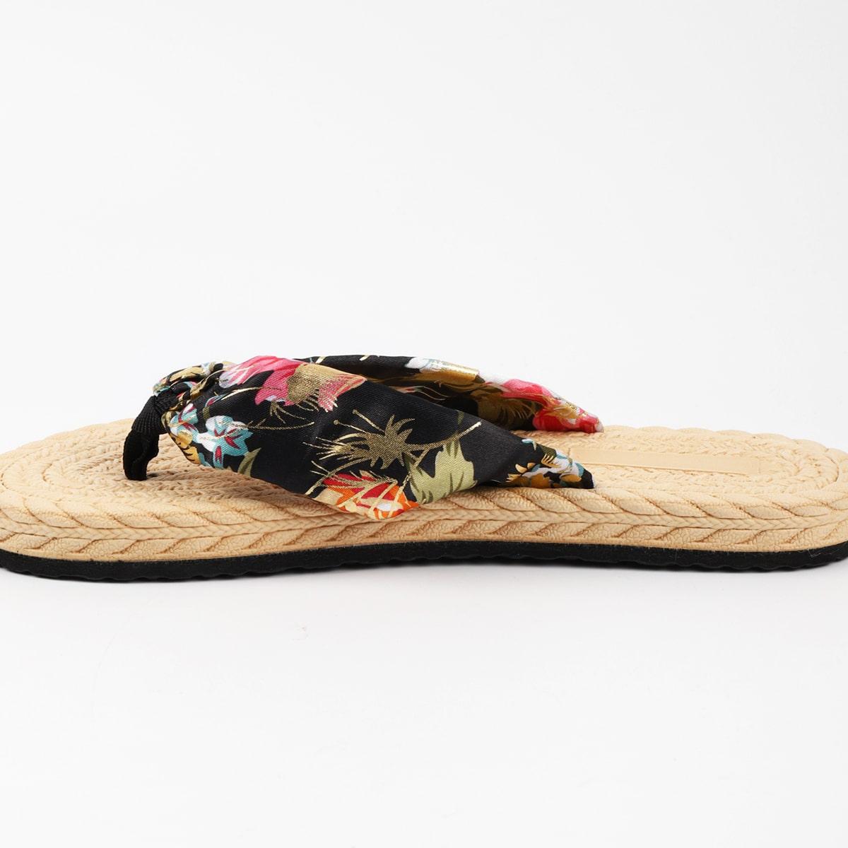 Вьетнамки с цветочным принтом SheIn swshoes25210508081