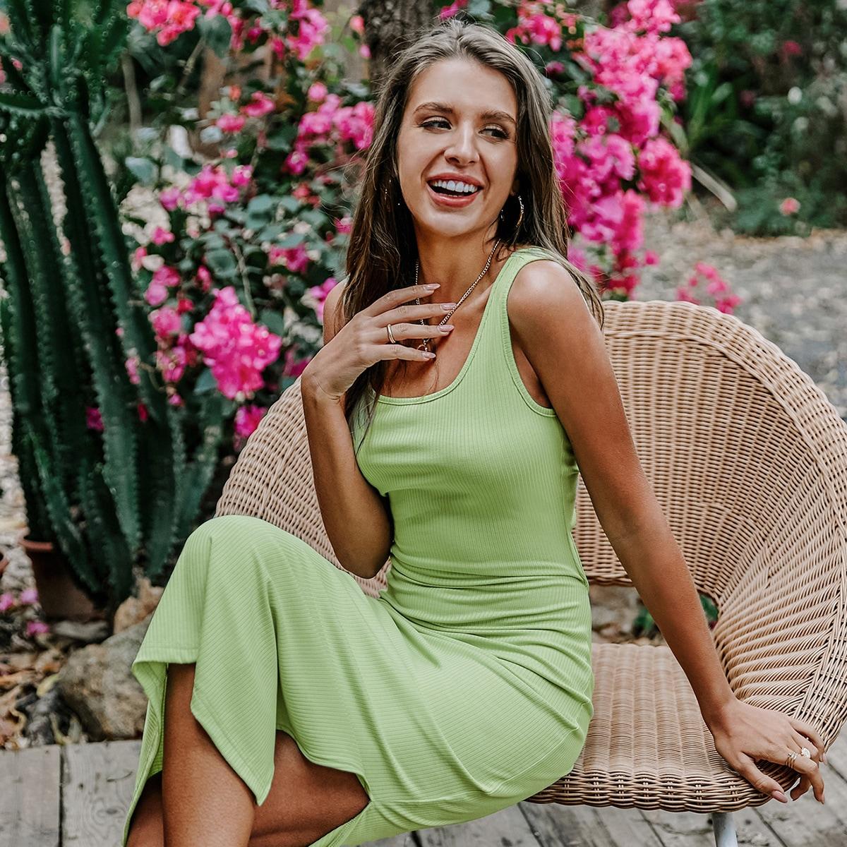 Платье с разрезом сзади с разрезом SheIn swdress23210414208