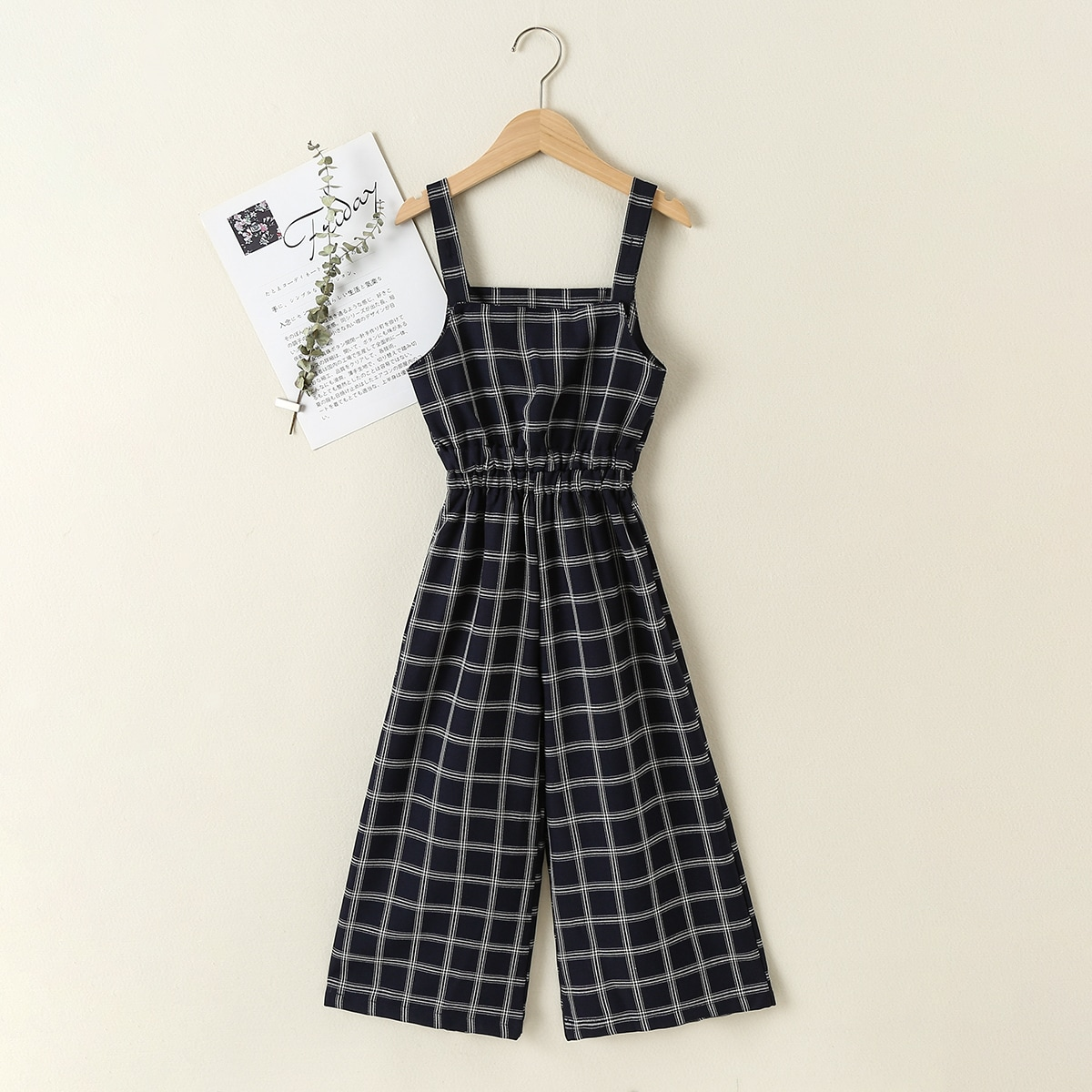 Girls Plaid Cami Jumpsuit, SHEIN  - buy with discount