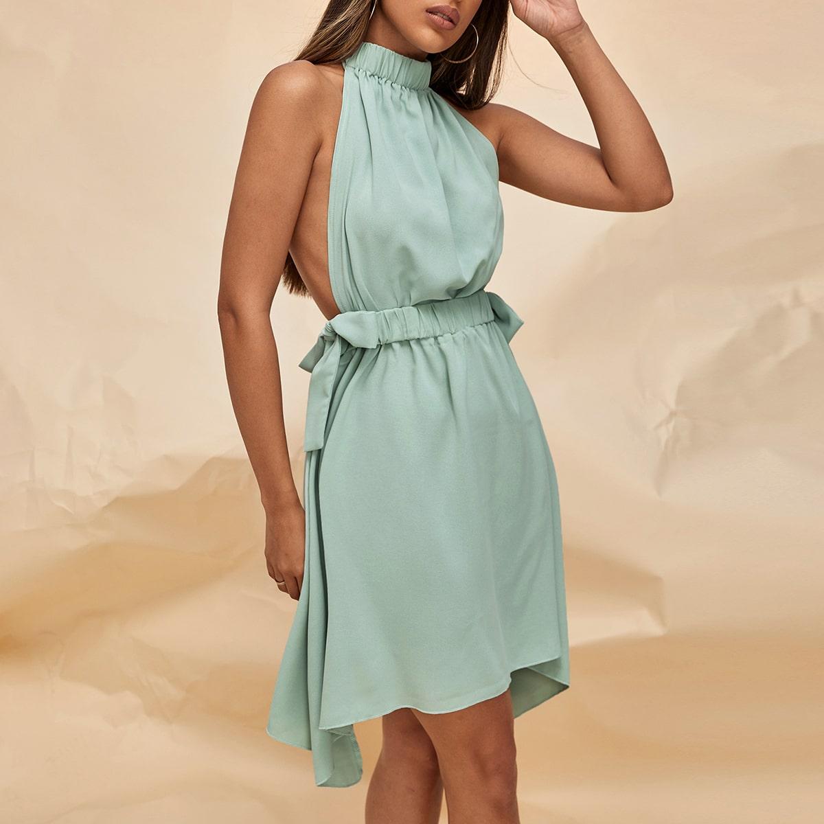 Асимметрическое платье с бантом SheIn swdress25210416864