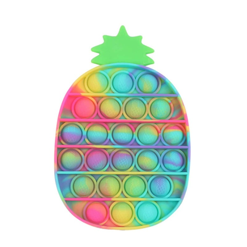 1pc Random Pineapple Stress Relief Bubble Toy, Multicolor