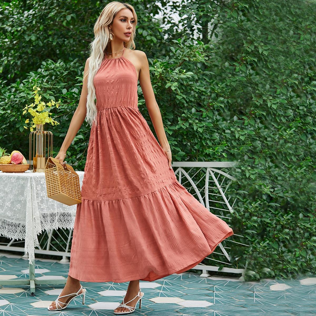 Платье с вырезом на спине SheIn swdress25210413819