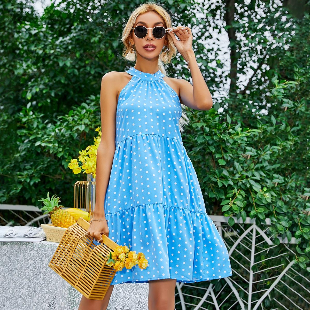 Платье в горошек SheIn swdress23210330753