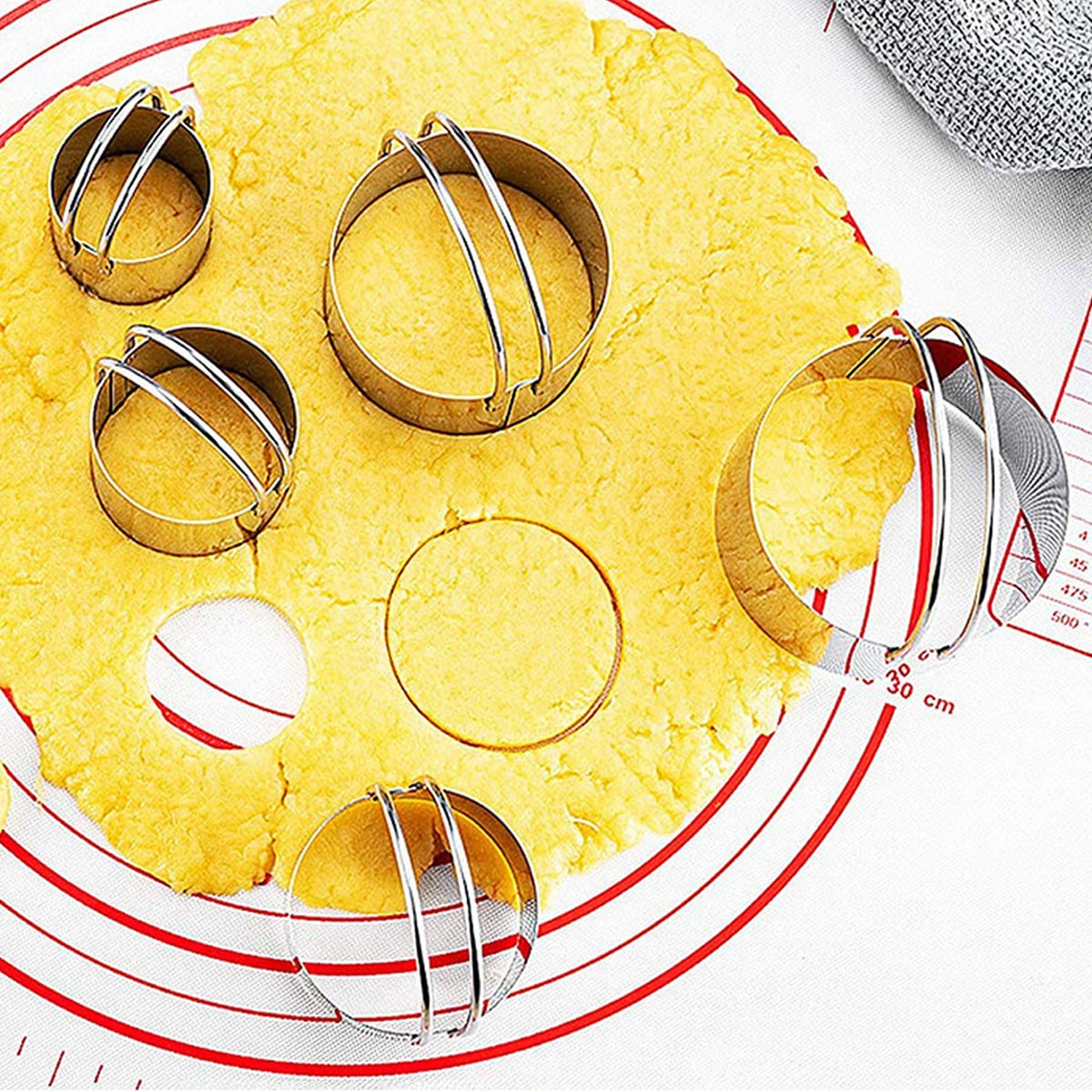 5pcs Stainless Steel Round Mousse Cutter