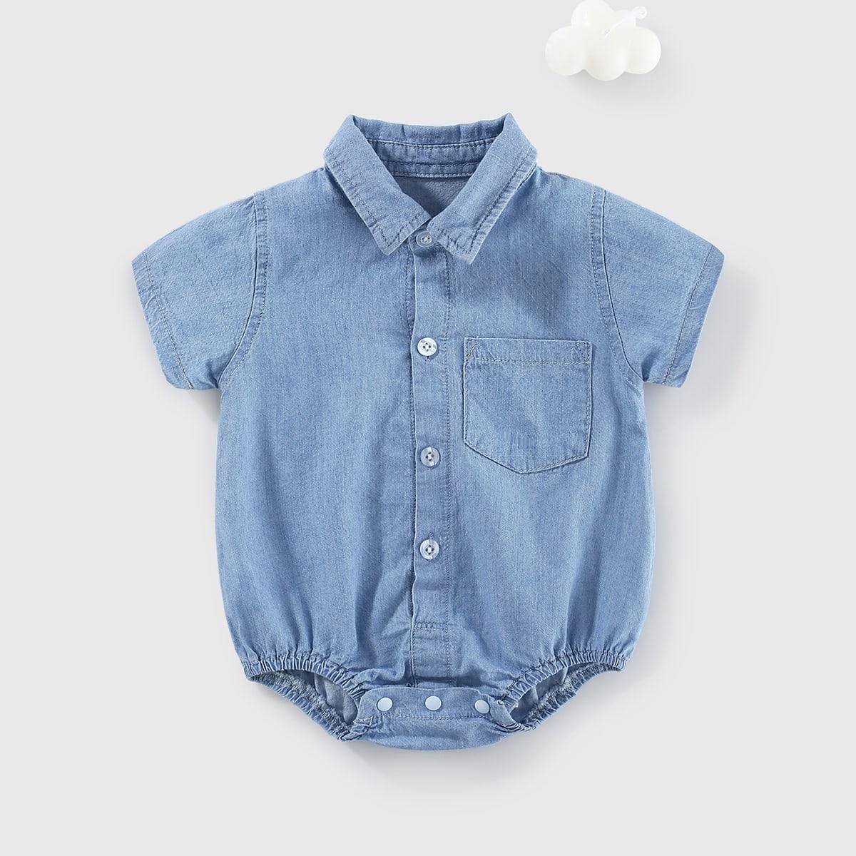 Детский Боди на пуговицах джинсовый от SHEIN