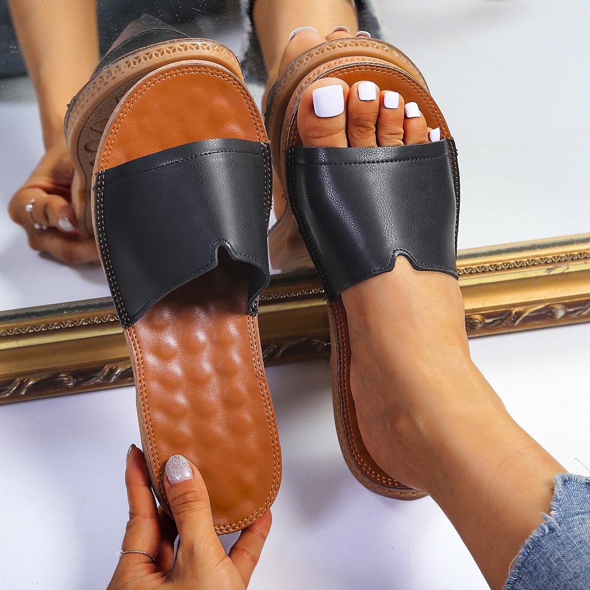 Open Toe Massage Slides