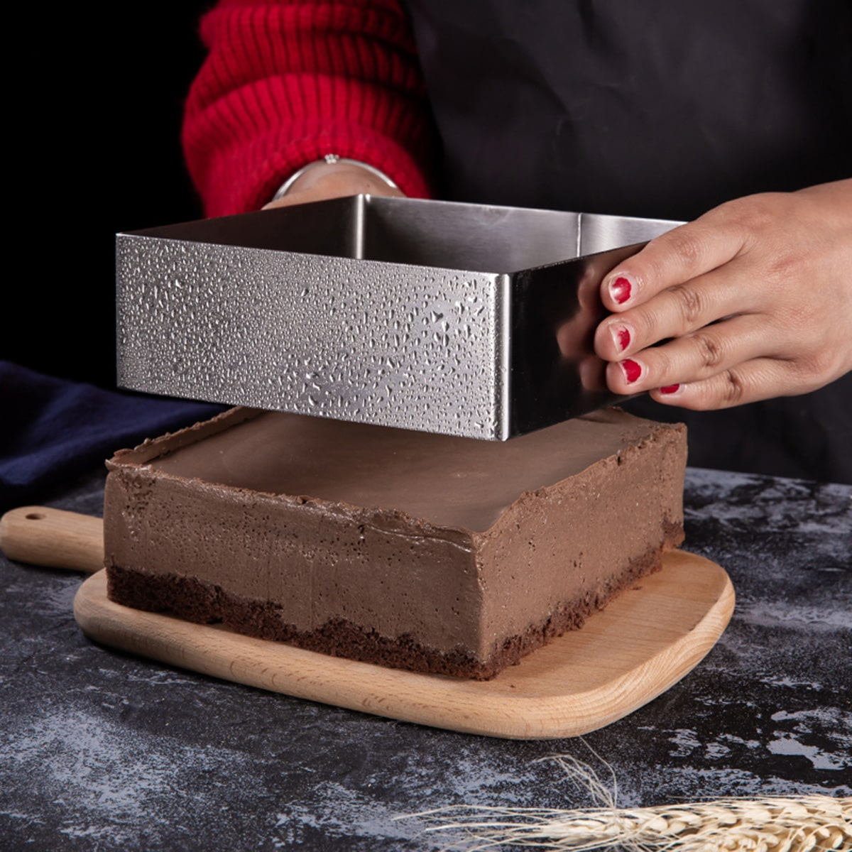 2pcs Stainless Steel Mousse Cake Mold