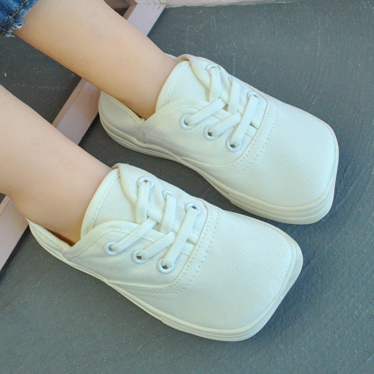 для мальчиков Холщовые туфли квадратным носком от SHEIN