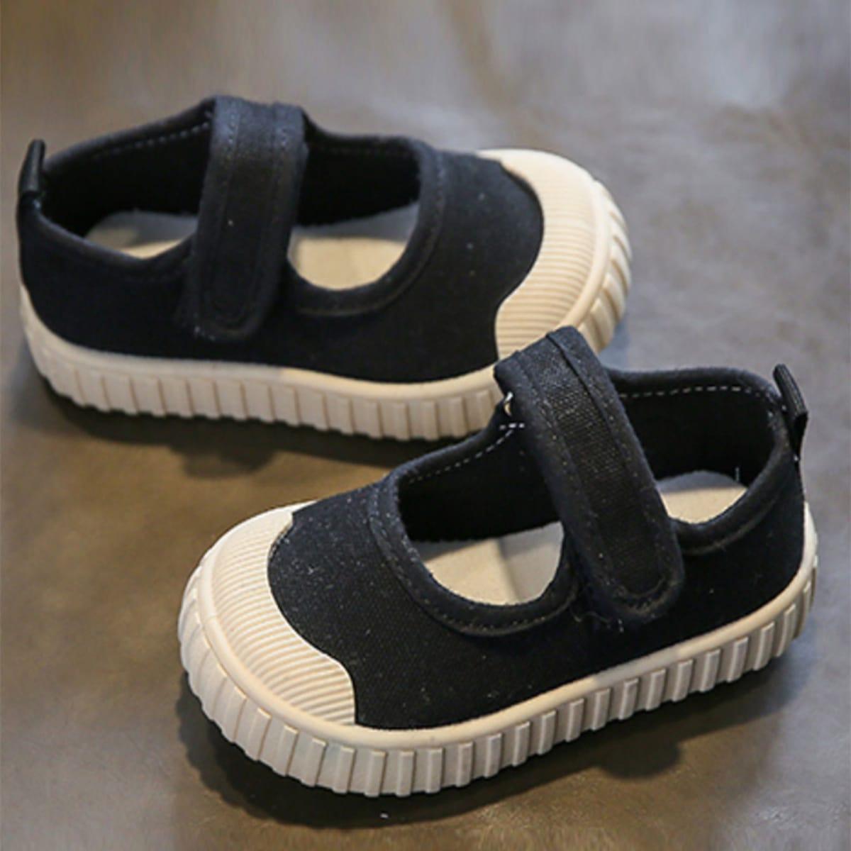 для мальчиков Холщовые туфли на липучке от SHEIN