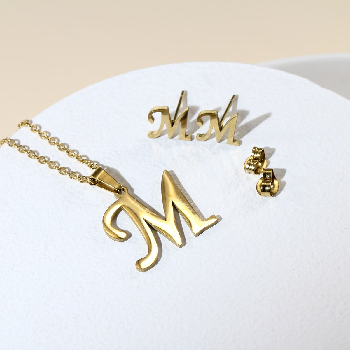 3pcs Letter Decor Jewelry Set