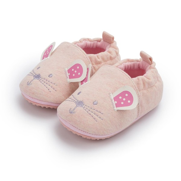 Baby Girl Cartoon Design Flats, Pink
