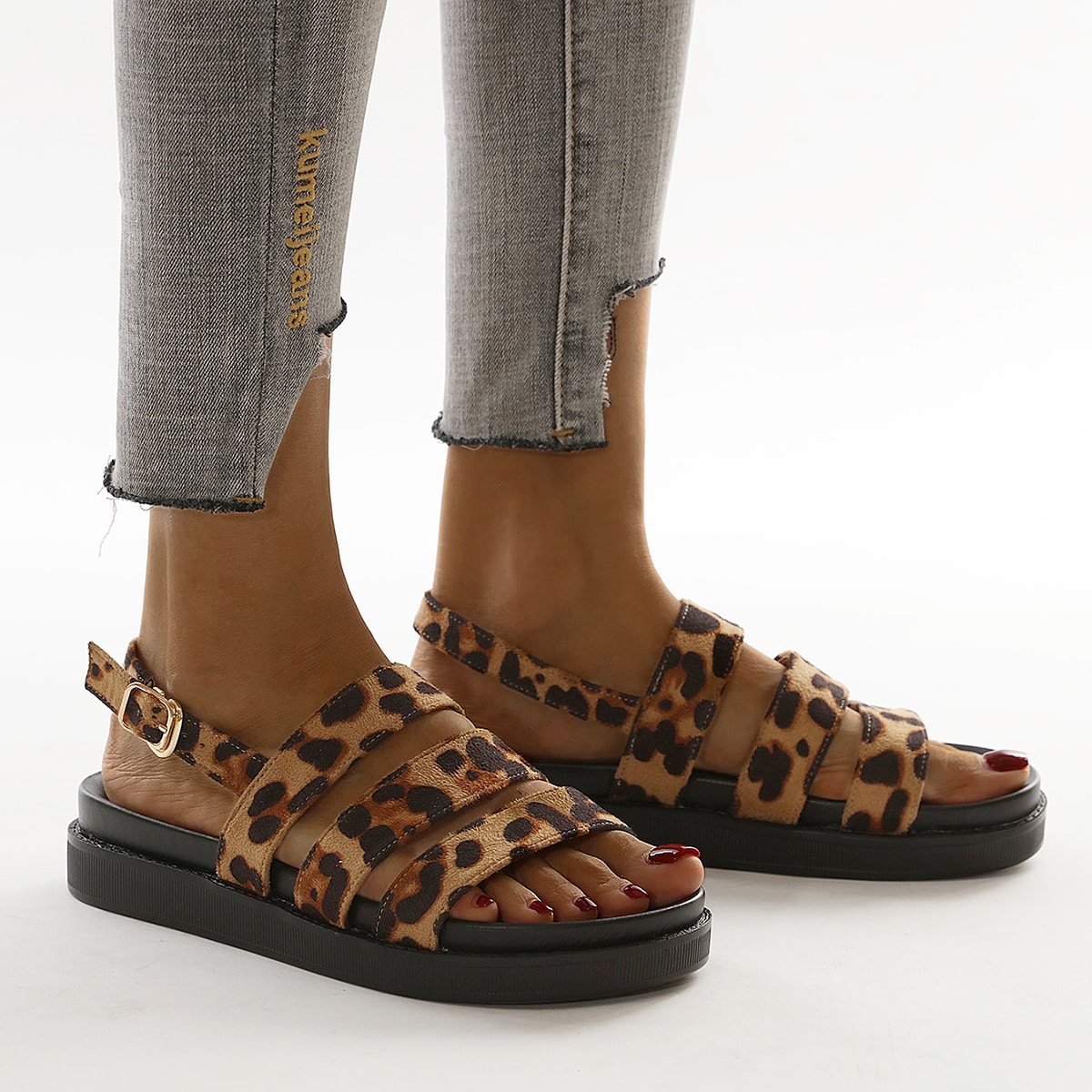 Leopard Slingback Sandals