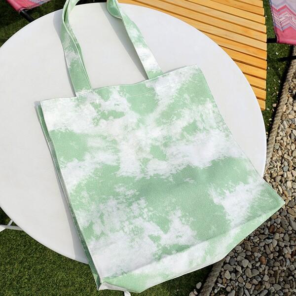 Tie Dye Shopper Bag, Green