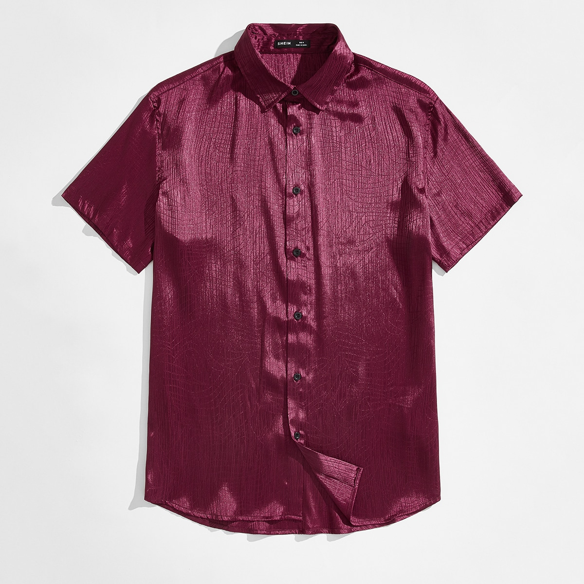 Жаккардовая атласная рубашка с пуговицами
