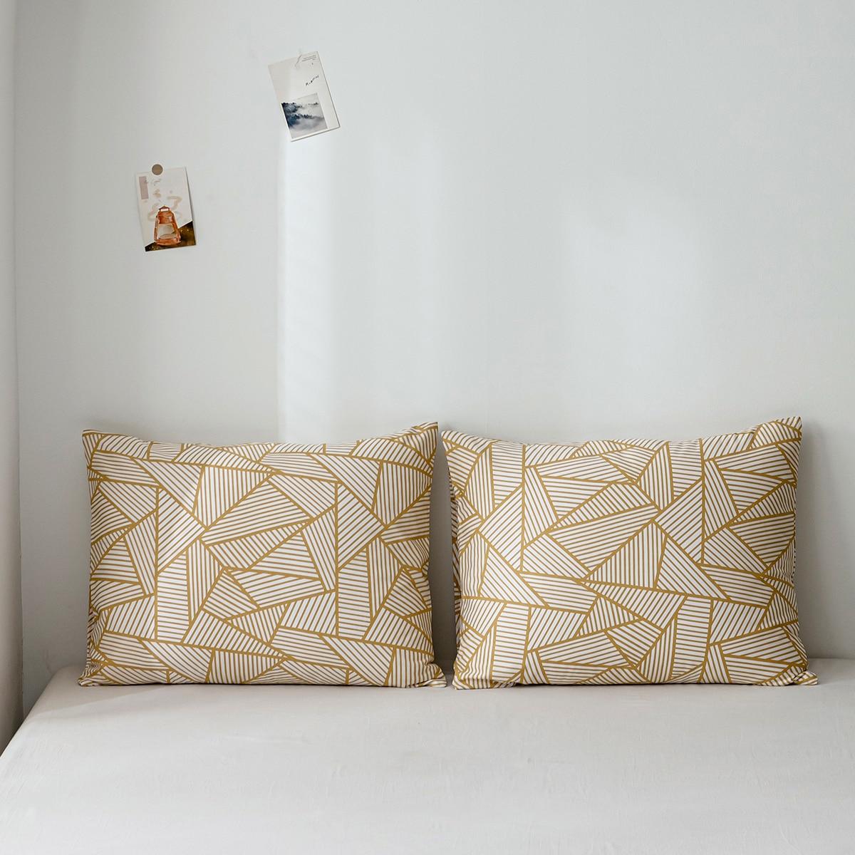 1Pair Geometric Pattern Pillowcase Without Filler