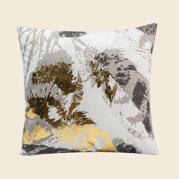 Hot Stamping Feather Cushion Cover Without Filler, Multicolor