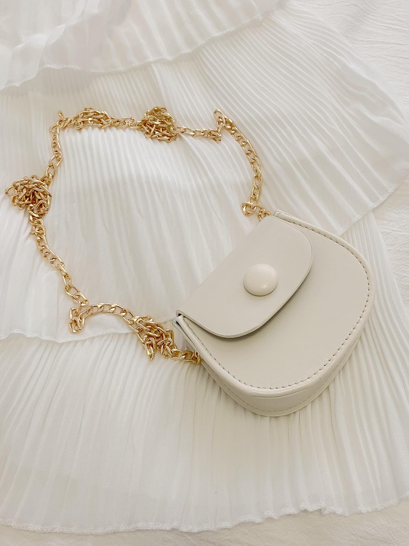 girls minimalist chain crossbody bag