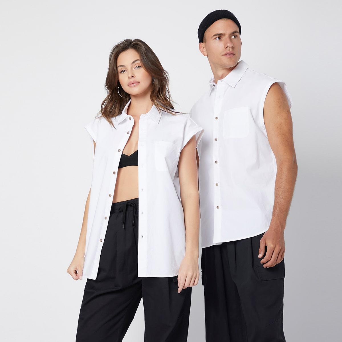 Однобортная рубашка с карманом 1шт