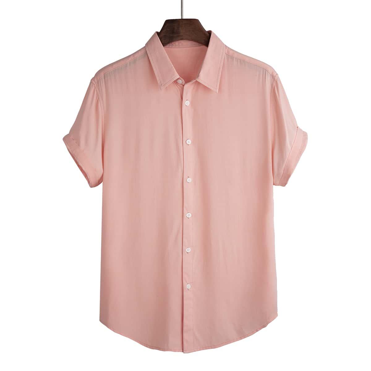 Мужская асимметричная рубашка на пуговицах SheIn smshirt25210507554