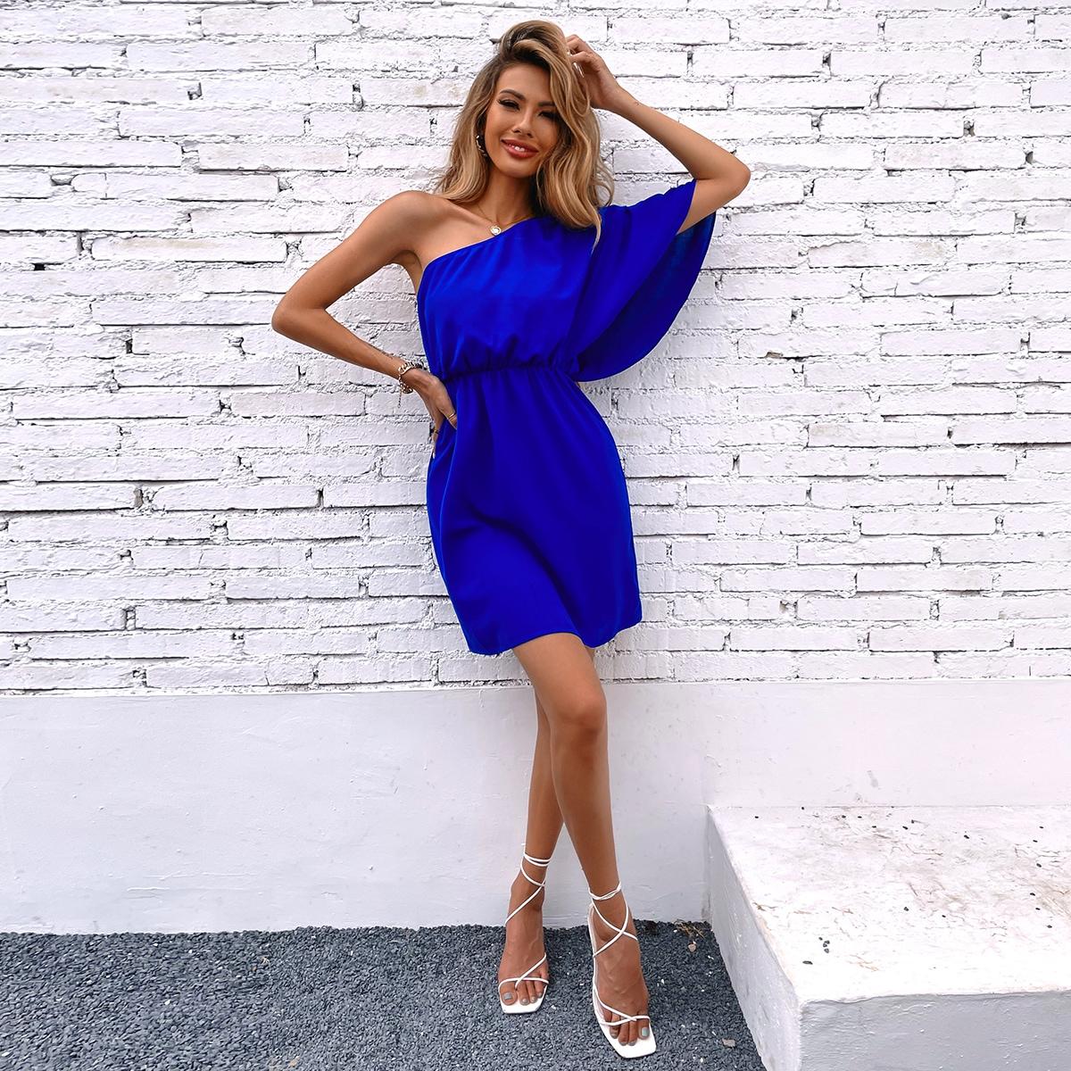 Платье на одно плечо SheIn swdress23210317033